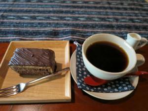 チョコケーキとコーヒーIMG_0329