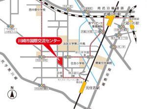 川崎市国際交流センター地図