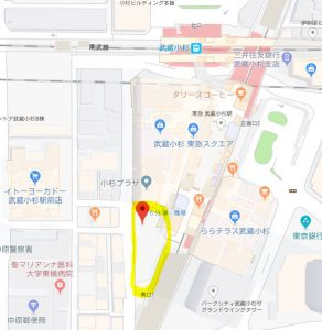 【地図】こすぎコアパーク
