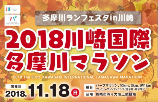 川崎国際多摩川マラソンパンフレット(表タイトル部分)