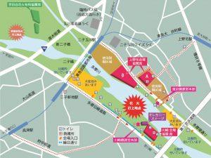 多摩川花火大会地図