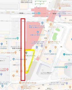 ★こすぎコアパーク地図(歩行者天国)