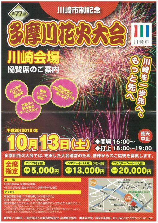 多摩川花火大会チラシ表