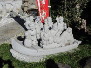 ★宝蔵寺七福神石像