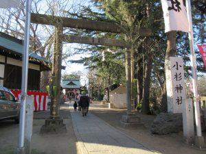 西明寺近くの小杉神社