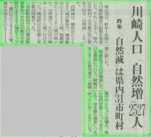川崎市人口自然増
