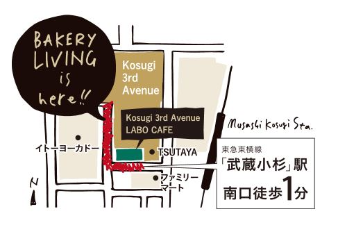 K3A BAKERY LIVING 地図