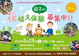 親子の花植え体験ポスター