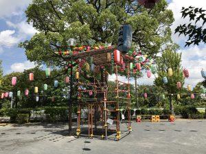 盆踊りのやぐら(2017年)