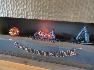 2019.10ハロウィン THE(暖炉/オブジェ、ガーランド)